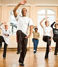 Portlanders practice the martial art of Tai Chi. Yoga classes will be offered as a fun and easy way to incorporate exercise into your daily routine at Saturday's annual Wellness Village sponsored by the African American Health Coalition.