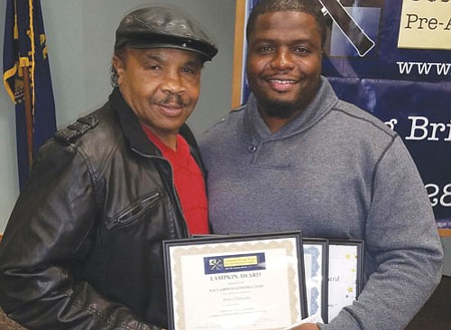 Retired boxer and current construction business operator Ray Lampkin encourages members of the black community to look for job opportunities ...