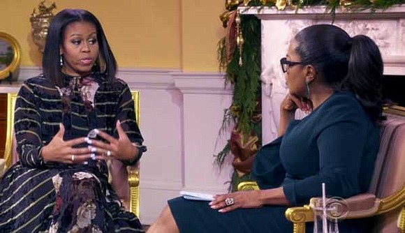 While Michelle Obama was a harsh critic of Donald Trump on the campaign trail, the first lady says in an ...