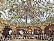 Breakfast inside Hotel Hermitage, under the dome designed by none other than Gustave Eiffel.