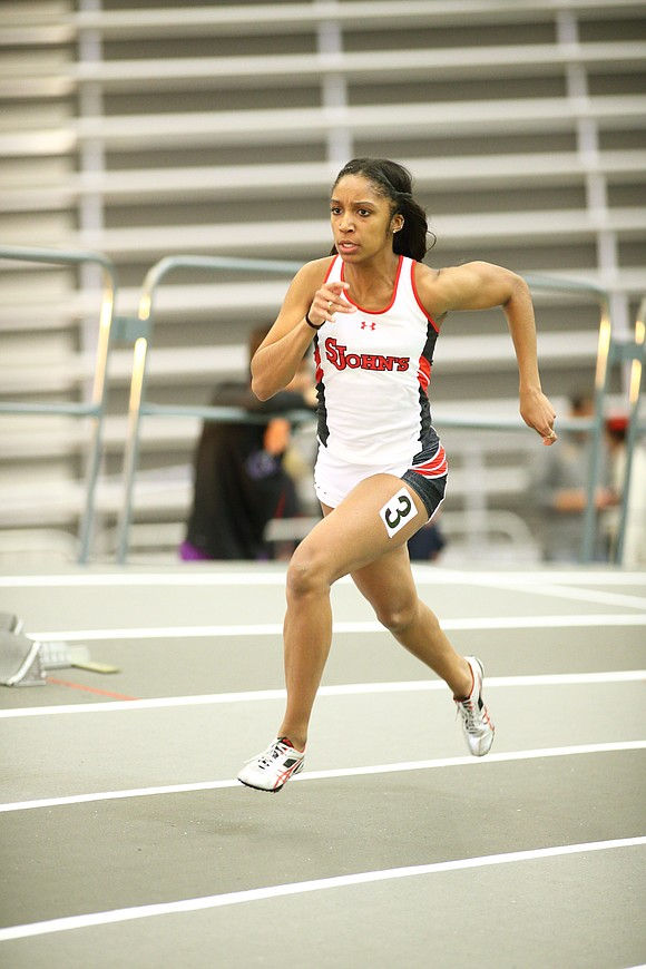 Indoor track and field season is young, but St. John's University junior Maya Stephens has already established her intention to ...