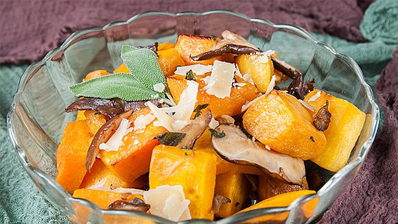 This recipe that pairs butternut (winter) squash with shiitake mushrooms and sage is not only tasty it's packed with vitamins ...
