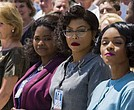 """Hidden Figures"" starring Taraji P. Henson, Octavia Spencer and Janelle Monae"