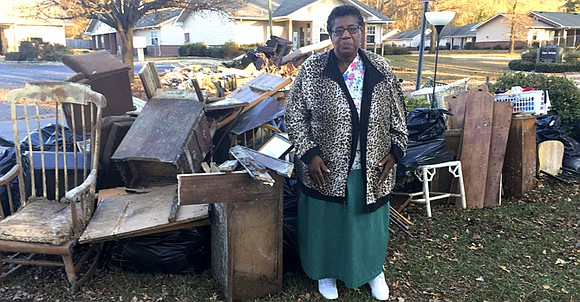 When Dianne Hines pulls up to her flood-damaged home in Princeville, North Carolina, she has no interest in going inside.