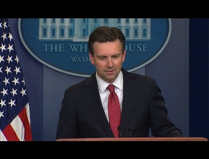 Josh Earnest has some advice for Sean Spicer, who will soon be taking over his job as White House press ...
