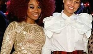 NBC's The Voice's Sa'Rayah and her coach Alicia Keys. Photo Credits: Courtesy of Sa'Rayah