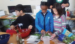 Students participating in the Fit Kitchen program.