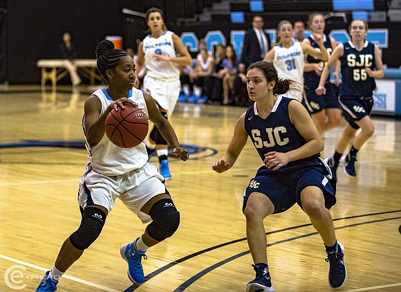 Coach Tim Shanahan cautions that it's early in the season, but at present the College of Staten Island women's basketball ...