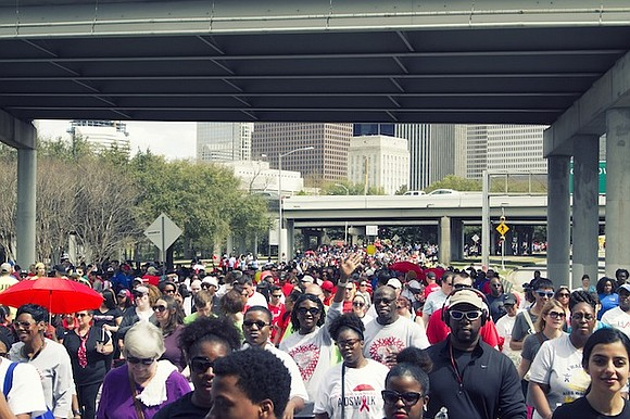 AIDS Foundation Houston (AFH) hosts the 28th annual AIDS Walk Houston on Sunday, March 5, 2017, at Sam Houston Park ...