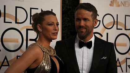 Blake Lively and Ryand Reynolds at the 74th annual Golden Globe Awards.