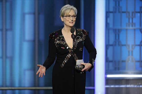 Meryl Streep was honored at the Golden Globes for a lifetime of notable work, and she took the opportunity to ...