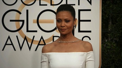Thandie Newton at the 74th annual Golden Globe Awards