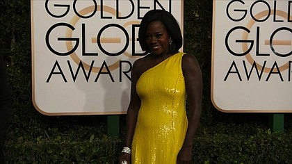 Viola Davis at the 74th annual Golden Globe Awards.