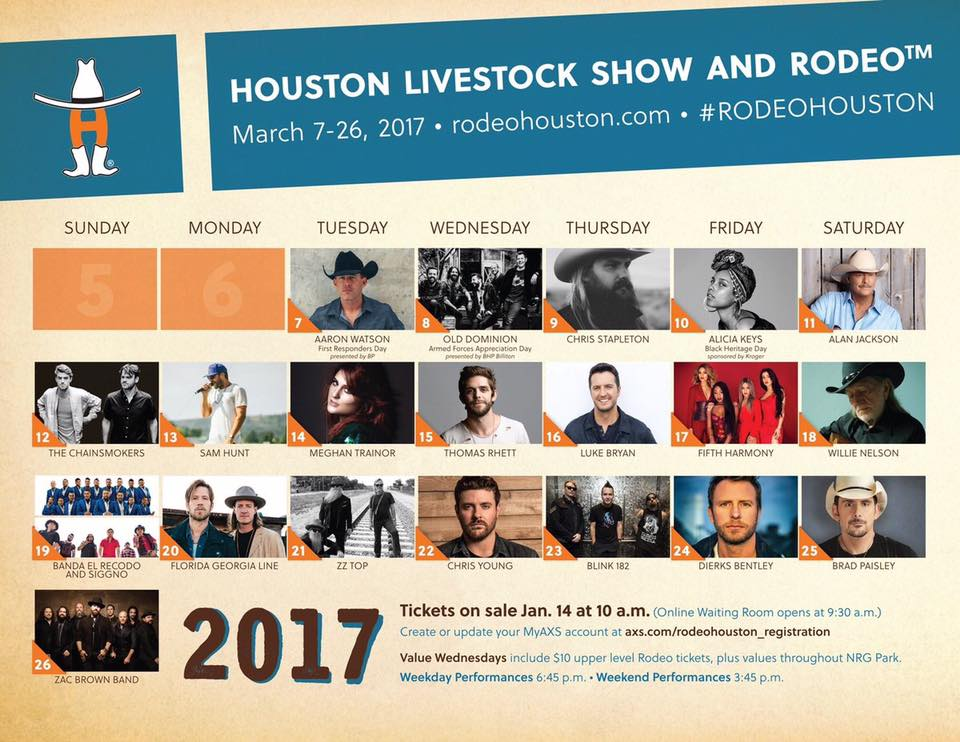 Rodeohouston Welcomes 11 Newcomers To The Rotating Stage