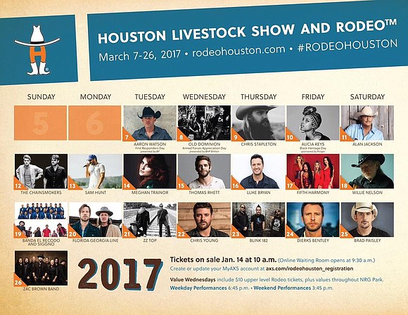More than half of the star-studded entertainer lineup scheduled to perform at RodeoHouston® will take the rotating stage for the ...