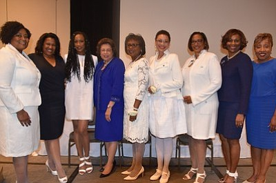 Zeta Phi Beta Sorority, Incorporated, a 96-year-old women's service organization, inducted Dr. Anita Hill, Esq., Cynthia James, and Rhona Bennett ...