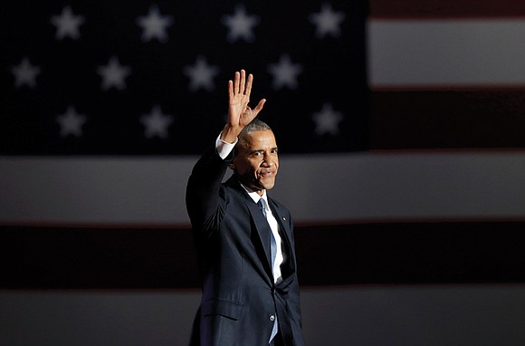 President Obama bid farewell to the nation Tuesday in an emotional speech that sought to comfort a country on edge ...