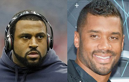 Seattle Seahawks quarterback Russell Wilson and Houston Texans offensive tackle Duane Brown both earned an A-plus on their NFL first ...