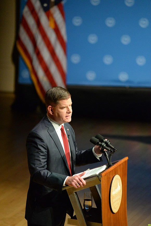 Mayor Martin Walsh tonight addressed a packed Symphony Hall. In his State of the City speech he promised to file ...