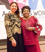Anna Foster, founder of A Maven's World with retired Massachusetts State Rep Gloria Fox