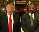 Donald Trump and Steve Harvey