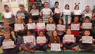 Third grade students in Sheila Freese's Troy Craughwell Elementary School class recently completed the international Hour of Code event, as did many other classes in Troy Consolidated School District 30-C.