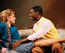 "Andrea Syglowski (Nora) and Sekou Laidlow (Torvald) in the Huntington Theatre Company production of Henrik Ibsen's ""A Doll's House."""