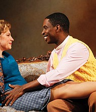 """Andrea Syglowski (Nora) and Sekou Laidlow (Torvald) in the Huntington Theatre Company production of Henrik Ibsen's """"A Doll's House."""""""