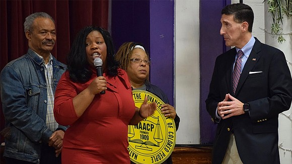 New 8th District Congressman listens on MLK Jr. Day.