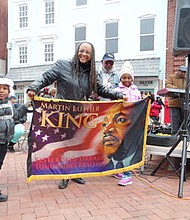 The third Annual Martin Luther King, Jr. Memorial Parade was held in Annapolis on Jan. 16, 2017. Mayor Michael Pantelides participated in the parade, which was hosted by the City of Annapolis. In addition to a lineup of local officials, businesses, various organizations and bands, individuals of all ages participated in this year's celebration of love and unity. Helen Chambers, a well-respected leader and retired educator served as the parade's grand marshal. The parade's founder and this year's co-chair. Phyllis Tee Adams is pictured holding the Dr. Martin Luther King, Jr. banner.