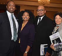 The Rev. Willie E.B. Boyd Jr. (second from right) keynoted the 26th Annual Prayer Breakfast hosted by The LeMoyne-Owen College Alumni Association-Memphis Chapter. Also pictured (l-r): State Rep. Joe Towns Jr. (District 84), LOC President Dr. Andrea Lewis-Miller and Yvonne Acey, associate director of Africa in April Cultural Awareness Festival, Inc. 