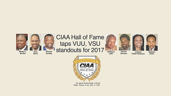 Virginia Union University's Terry Davis and Derrick Johnson, and Virginia State University's Dr. DeWayne Jeter are among those named to ...
