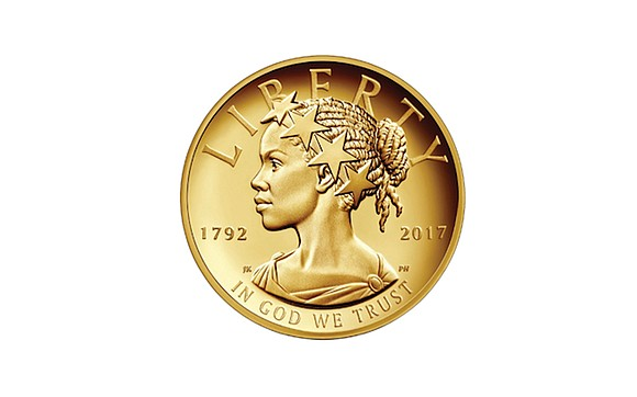 The U.S. Mint has unveiled a $100 gold coin featuring an African-American woman as the face of Lady Liberty for ...