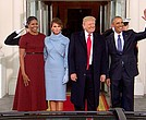 Obamas hosting Trumps at White House