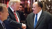 President-elect Donald Trump thanks Martin Luther King III, son of the late civil rights champion Dr. Martin Luther King Jr., following their meeting last Monday at Trump Tower in New York City.