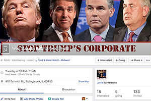 Facebook page for the rally against Scott Pruitt's appointment to head the EPA.