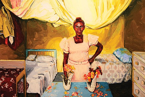 Five powerful paintings by artist Marilene Phipps-Kettlewell reflect the scars on Haiti and its people left by the violent rule ...
