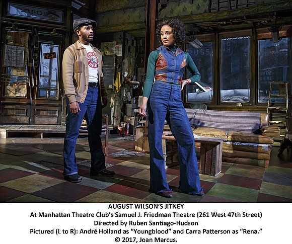 "It has been too long in coming but, at last, August Wilson's ""Jitney"" has made it to Broadway. And ""Jitney"" ..."