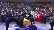 Bishop Eddie Long was celebrated by thousands of mourners lined up as early as 7 a.m. for his 10:30 a.m. homegoing service on Jan. 25.