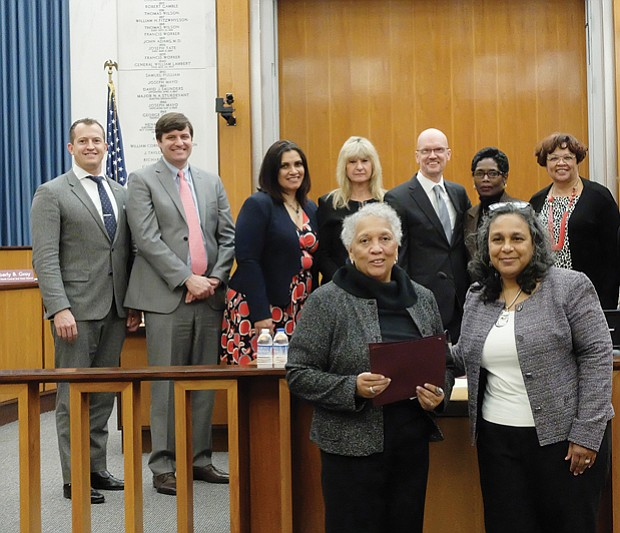 Free Press honored // The Richmond Free Press was recognized by Richmond City Council on Monday on the occasion of the newspaper's 25th anniversary. A resolution adopted by the body lauded the independently owned and operated newspaper that has served the Richmond community since its founding by the late Raymond H. Boone on Jan. 16, 1992.