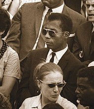 James Baldwin in the documentary I Am Not Your Negro.