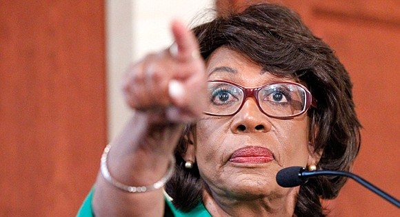 "Rep. Maxine Waters said Monday that President Donald Trump's actions are ""leading himself"" to possible impeachment."