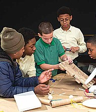 The Innovation Studio, another element of Black Creativity, is an exciting space for youth to experiment and explore new ideas. [J.B. Spector/Museum of Science and Industry, Chicago]
