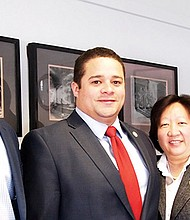 City of Boston Chief Diversity Officer Danielson Tavares, Boston Fire Department Diversity Officer Juan Sanchez, Deputy Commissioner for Labor Relations Connie Wong and Fire Commissioner Joseph Finn.