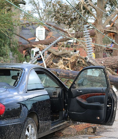 Feb. 7 2017, a massive tornado hit the City of New Orleans around 10 a.m., damaging several homes in New ...