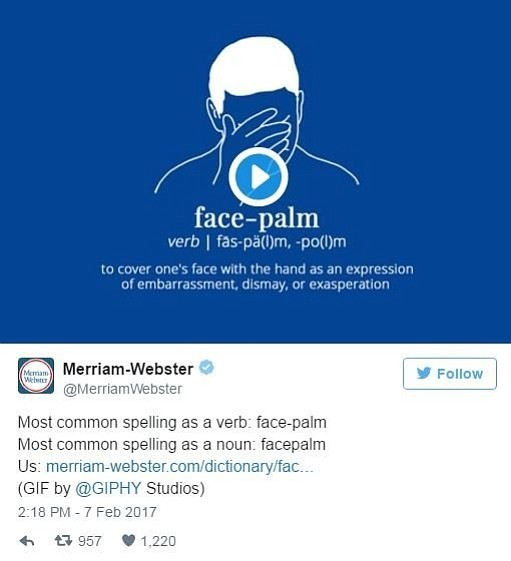 """Ghost,"" ""side-eye"" and ""facepalm"" are now included in the official Merriam-Webster's dictionary."