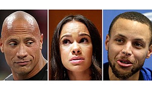 """Actor Dwayne """"The Rock"""" Johnson, professional ballerina Misty Copeland and basketball star Stephen Curry"""