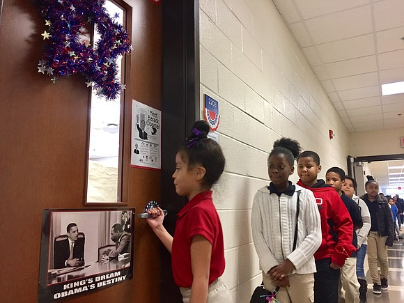 President Barack Obama's may be out of office but in DeKalb County, just over 800 students are calling his name ...