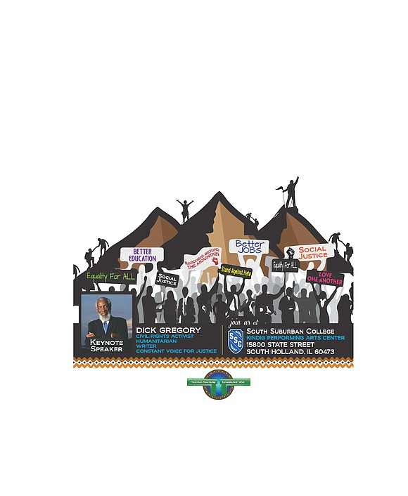 Thornton Township presents Marching Beyond the Mountain: A Black History Month event featuring civil rights activists, comedian and writer Dick ...