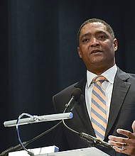 Rep. Cedric Richmond (D-La.) said that the battles fought and won by Frederick Douglass, Sojourner Truth, Ida B. Wells, and Martin Luther King Jr., are being waged again today. Photo taken during a recent ceremonial swearing-in event for the 115th Congress in Washington, D.C. (Freddie Allen/AMG/NNPA)